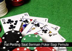 Hal Penting Saat Bermain Poker Bagi Pemula